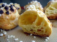 chouquettes-takes 10 minutes to prep and you just need a pot, a spoon, and cookie sheet.