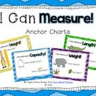 These super cute posters will give your students a visual aide as they use the proper measurement vocabulary words.  There are posters for:  Height...