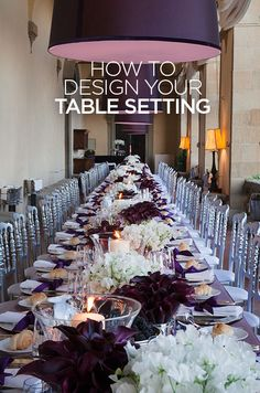 How do you take your reception tables from ordinary to extraordinary? Create a beautiful table setting with our top 5 tips.