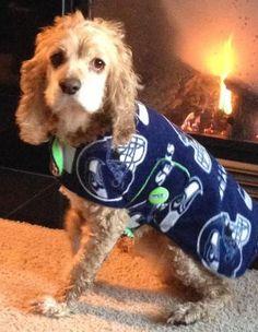 Seattle Seahawks Dog Coat Large by OliveandBasil on Etsy, $30.00