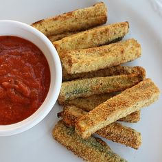 Made these Baked Zucchini Sticks  by Gina's Weight Watcher Recipes tonight and had them with Bruschetta Chicken-YUM! This is a keeper recipe!  WW points: 1.3 per serving (recipe makes 3 servings)