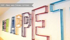 Nail String Letters.  Fun for boys' rooms.