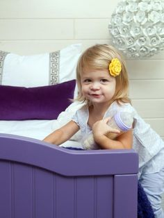 Paint a simple wooden bed. Money-Saving Design Ideas for Kids' Rooms--> http://www.hgtv.com/kids-rooms/money-saving-design-ideas-for-kids-rooms/pictures/page-7.html?soc=pinterest  ~ Light in background by Crystorama
