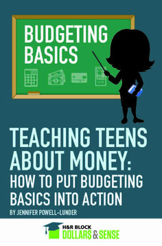 Teaching Teens About Money - How To Put Budgeting Basics Into Action #finance #education #highschool