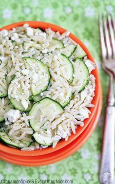 Feta Zucchini Orzo Salad