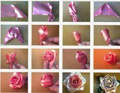 DIY Beautiful Ribbon Rose
