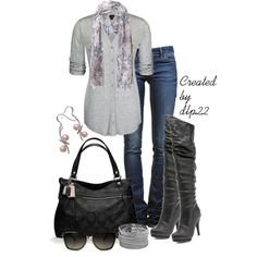 """Pink and Gray"" by dlp22 on Polyvore"