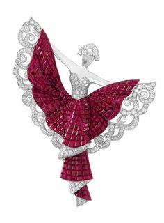 Van Cleef & Arpels Silk Road Dancer Clip