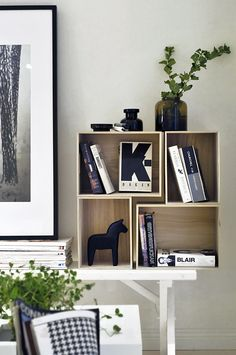 Great shelf from stacked boxes