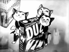 Duz Kittens With the voices of June Foray and Joan Gardner. #detergent #laundry #commercial #advertisement