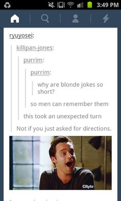 blonde jokes, snap snap, fingers, blondes, fashion polic, tumblr posts, blond joke, feminism, burn