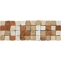 {Border Idea} {Inspiration}    Del Conca 4-in x 12-in Rialto Beige Thru Body Porcelain Listello Tile