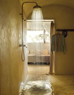 LOVE the walk in shower room.