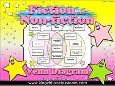 Fiction and Non-fiction Venn Diagram #3 - Compare Contrast - King Virtue from King Virtue on TeachersNotebook.com -  (3 pages)  - Fiction and Non-fiction Venn Diagram #3 - Compare Contrast - King Virtue's Classroom  Students will love practicing what you've taught them about fiction and non-fiction texts with this game sort acti