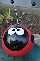 Recycled Bowling Ball - and since my bowling ball cracked this would be the perfect project for it!
