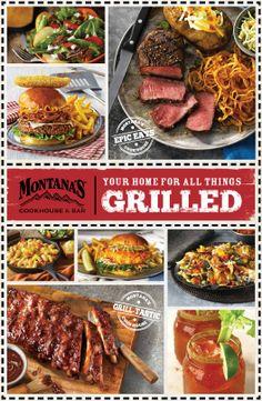 Montanas Cookhouse Dinner Menu