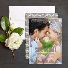 Modern Nouveau Save The Date Cards By Emily Crawford | Elli