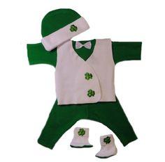 Irish Shamrock Baby Suit with Vest