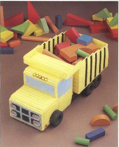 Dump Truck Plastic Canvas Pattern by needlecraftsupershop on Etsy, $3.50