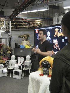 Personal Robots student David Nunez talks about Nexi and social robotics in a demo.