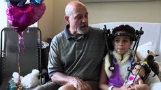 After his granddaughter Faith Eubanks was injured in a car accident and had to wear a halo, Charles Sears made a halo for his granddaughter's doll Caroline.