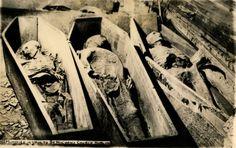 Dublin, Ireland historic photo of mummies in St. Michan's crypt