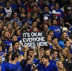 Allen Fieldhouse... it's okay, everyone loses here! #KU #Kansas #Jayhawks #RockChalk #RCJH