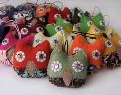 Mini-Owl Christmas Ornaments