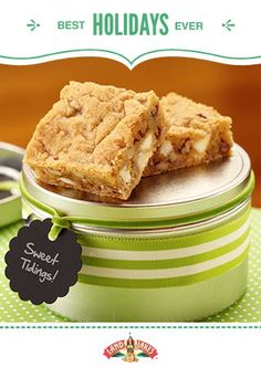 Browned butter is a holiday baker's secret weapon. It transforms blondies from humdrum bars into gift-worthy treats. #BestHolidaysEver