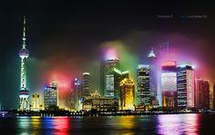 Shanghai   Hazy Lujiazui - PuDong, Shanghai