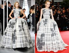 Diane Kruger In Christian Dior Couture.