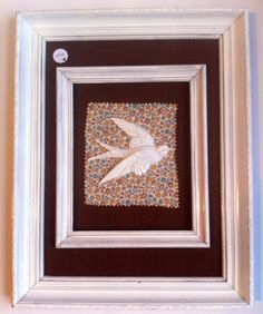 Framed shabby chic swallow by bellesandwhistles15 on Etsy, £20.00