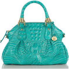 Brahmin Lisa Dome Satchel Bag ($295) ❤ liked on Polyvore