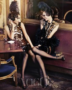 """Good Time Girls"": Flappers by Hong Jang Hyun for Vogue Korea flapper girls"