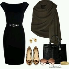Dress and wrap with different shoes though.  I don't know if I would ever get leopard print shoes.  But it does look nice.
