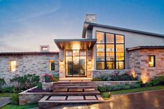 Hill Country Contemporary by Paula Ables Interiors  #architecture #building #house #home #residence