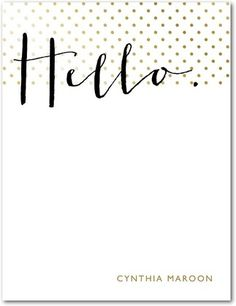 Chic Greeting - Personal Stationery in Umber | Pinkerton Design
