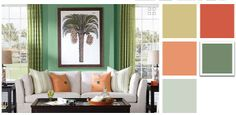 Caribbean colors on pinterest for Tropical interior paint colors
