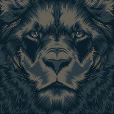 vector illustrations, animals, color schemes, behance, poster, design art, lions, craniodsgn, art print