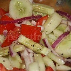 Cucumber, Tomatoe & Vidalia Onion Salad