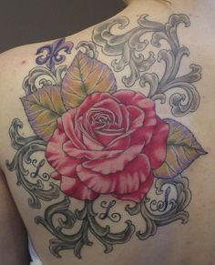 Rose and Filigree Tattoo by Suzanna Fisher.
