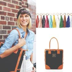 You'll travel anywhere with ease with this roomy initial tote! Customize your bag with a colorful tassel to make it totally you!   Shop now for up to 79%: http://chictreat.com/  #chictreat #styledeals #totes #initials #initialbags #roomytote #deals #style #fashion