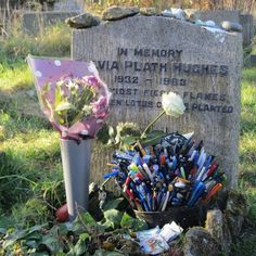 Sylvia Plath's grave in Heptonstall (via Sylvia Plath Info Blog)