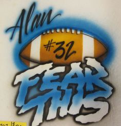 AIRBRUSHED TSHIRT  Football by AirbrushtexasTees on Etsy, $15.00
