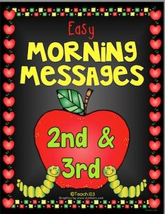 September - Easy Morning Messages - 2nd & 3rd Grade #TPT $Paid