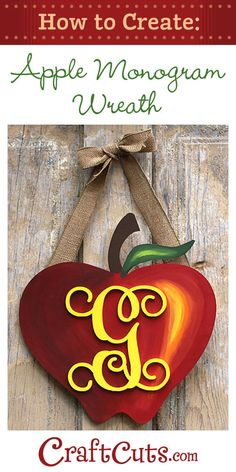 Create a Monogram Apple Wreath for Back to School | Craftcuts.com