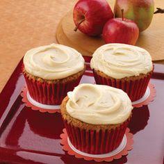 Caramel apple cupcakes. Fall recipes are the BEST recipes, landolakes.com/Blog/orchard-season-and-caramel-apple-cupcakes