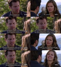 Psych. I don't even watch this show and that is one of the best relationship quotes ever.