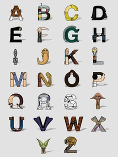 Star Wars alphabet..