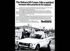 car, subaru ad, the women, old advertisements, old school, 1970s, photo galleries, vintage ads, vintag ad